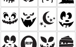 006 Top Free Pumpkin Template Printable High Resolution  Easy Carving Scary Stencil