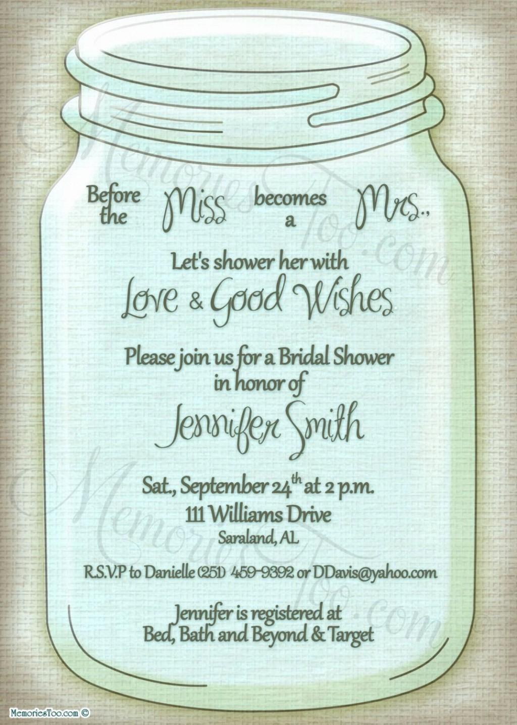 006 Top Mason Jar Invitation Template Image  Free Wedding Shower RusticLarge