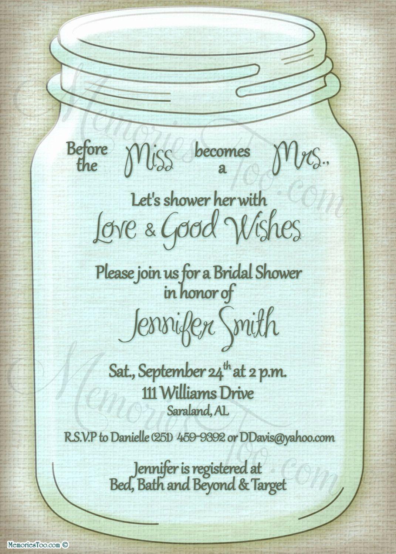 006 Top Mason Jar Invitation Template Image  Free Wedding Shower RusticFull