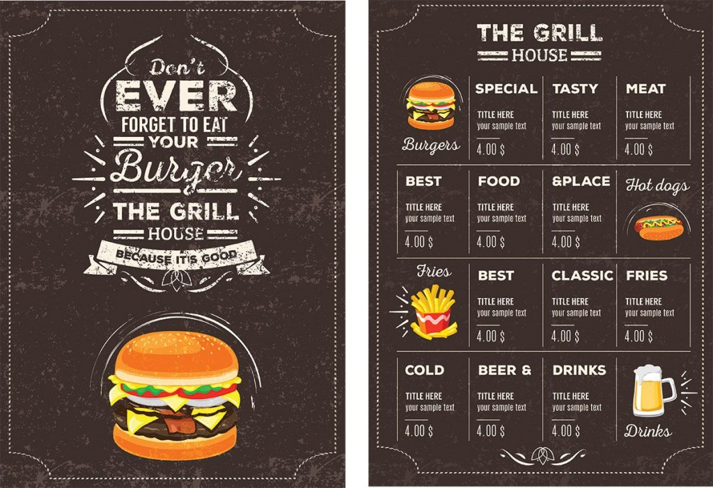 006 Top Menu Template Free Download For Restaurant Highest Quality  Word PsdLarge