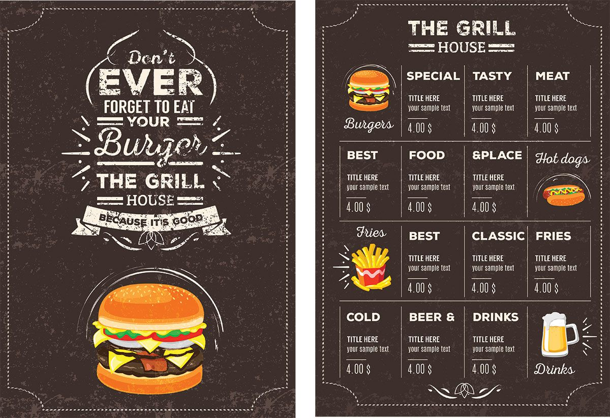 006 Top Menu Template Free Download For Restaurant Highest Quality  Word PsdFull