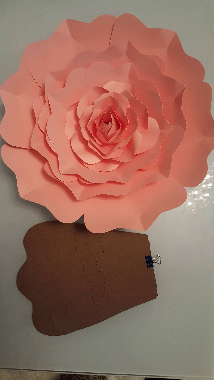 006 Top Paper Rose Template Pdf Design  Flower Giant Free CrepeFull