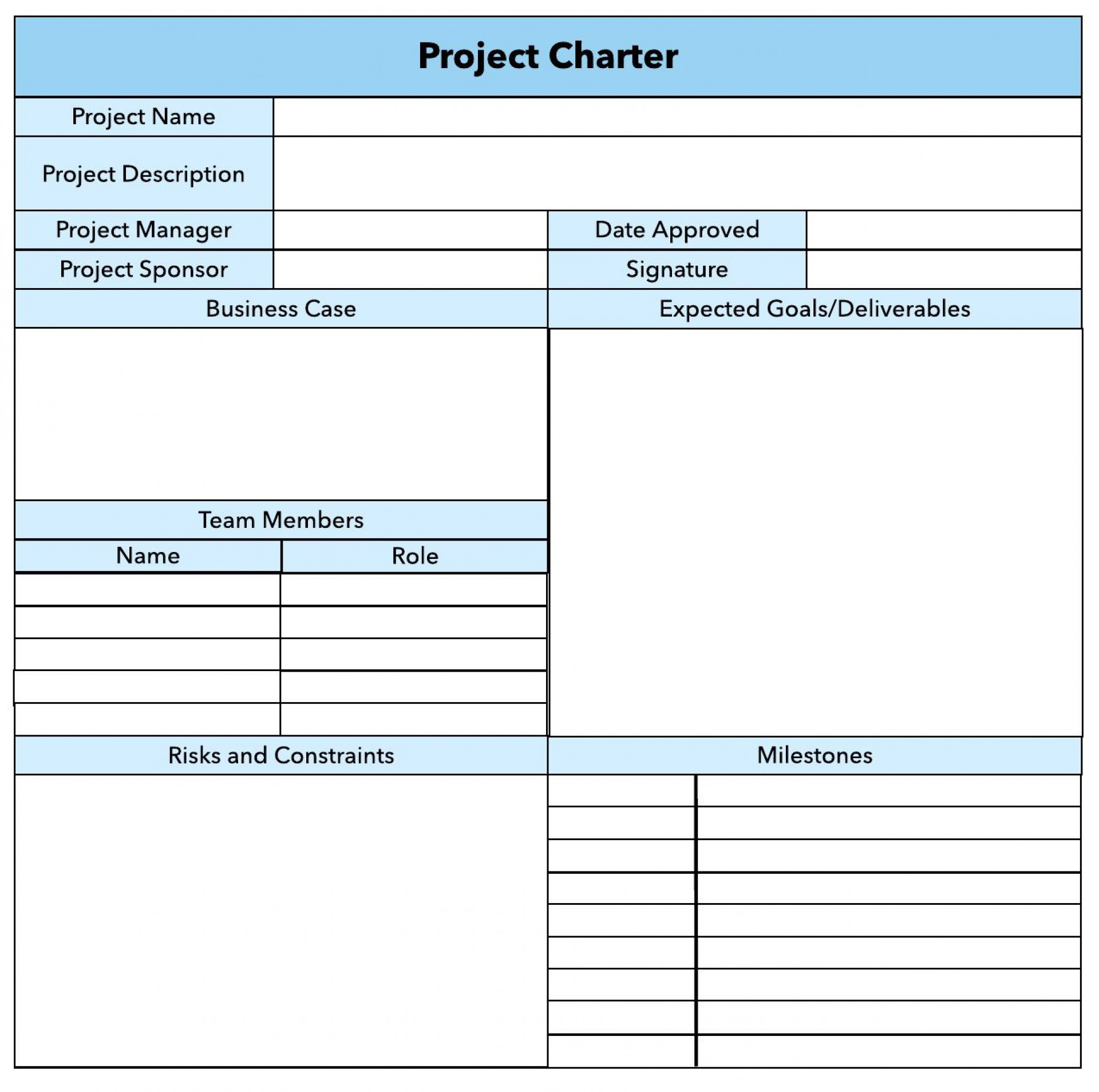 006 Top Pmbok Project Charter Template Image  Pmi Agile Word1920