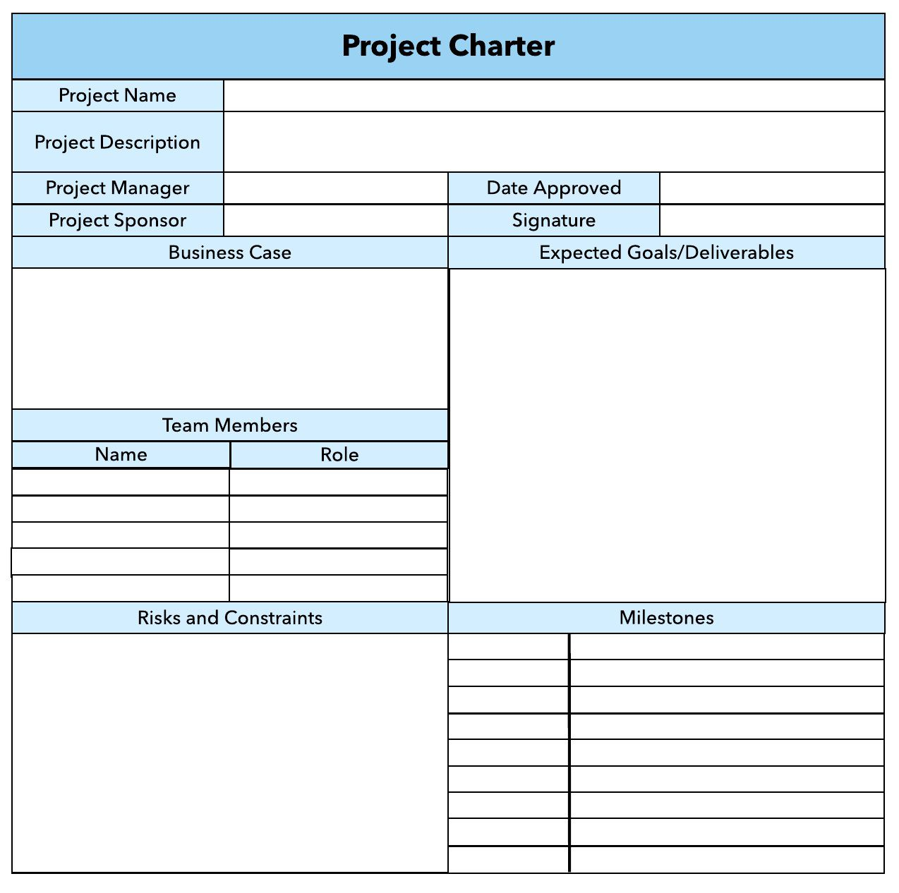006 Top Pmbok Project Charter Template Image  Pmi Agile WordFull