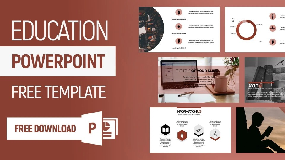 006 Top Powerpoint Template Free Education High Definition  Download Presentation Ppt960