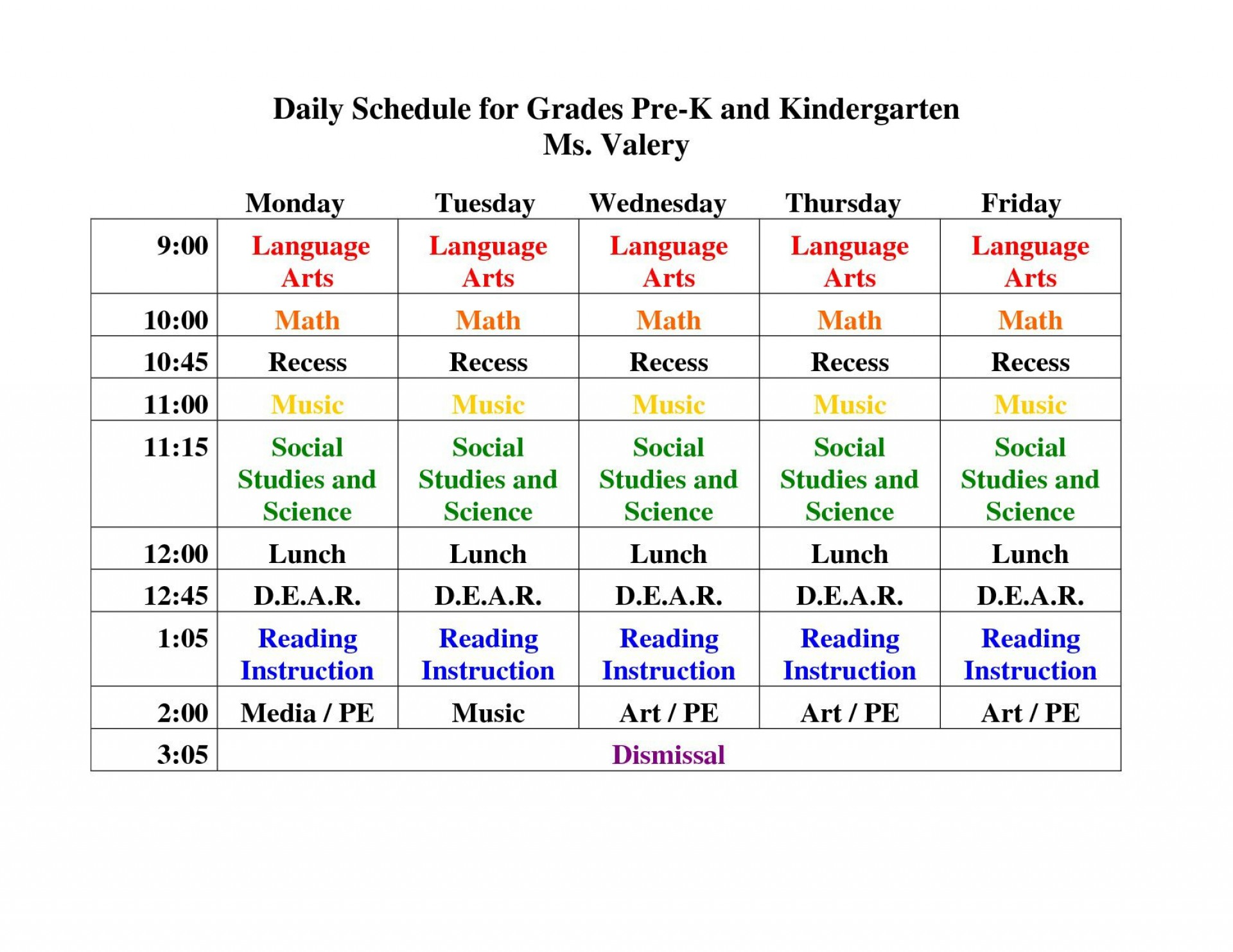 006 Top Preschool Daily Schedule Template High Def  Planner Routine Plan1920