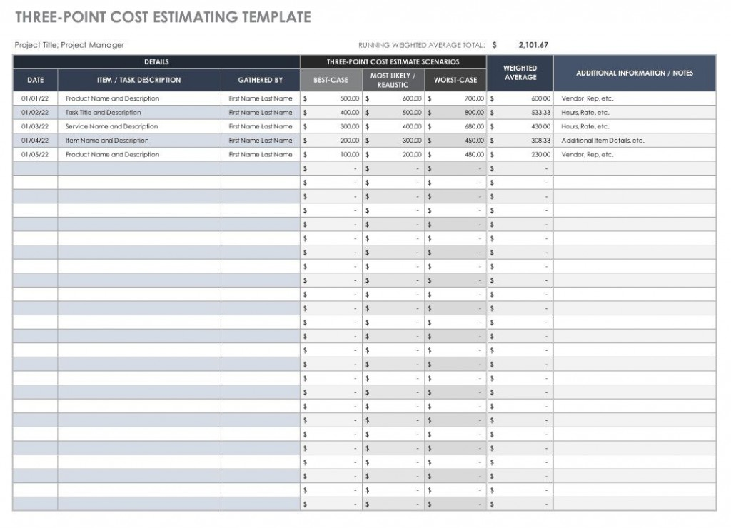 006 Top Printable Construction Estimate Template High Def  Free FormLarge