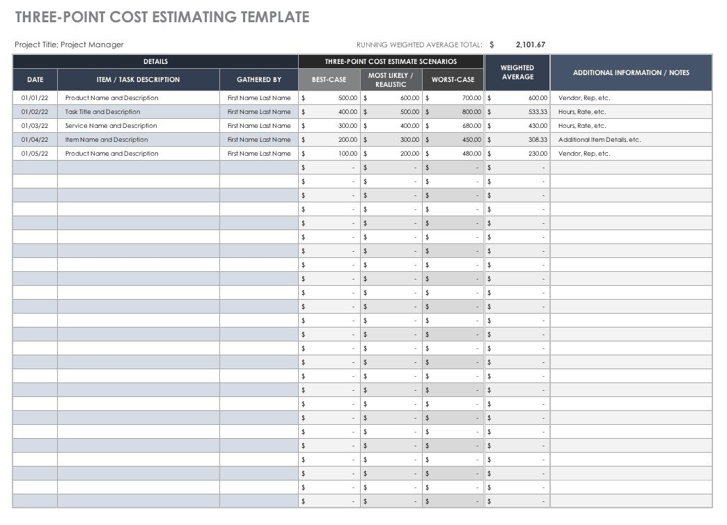 006 Top Printable Construction Estimate Template High Def  Free FormFull