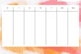 006 Top Printable Weekly Planner Template Cute Example  Free Calendar