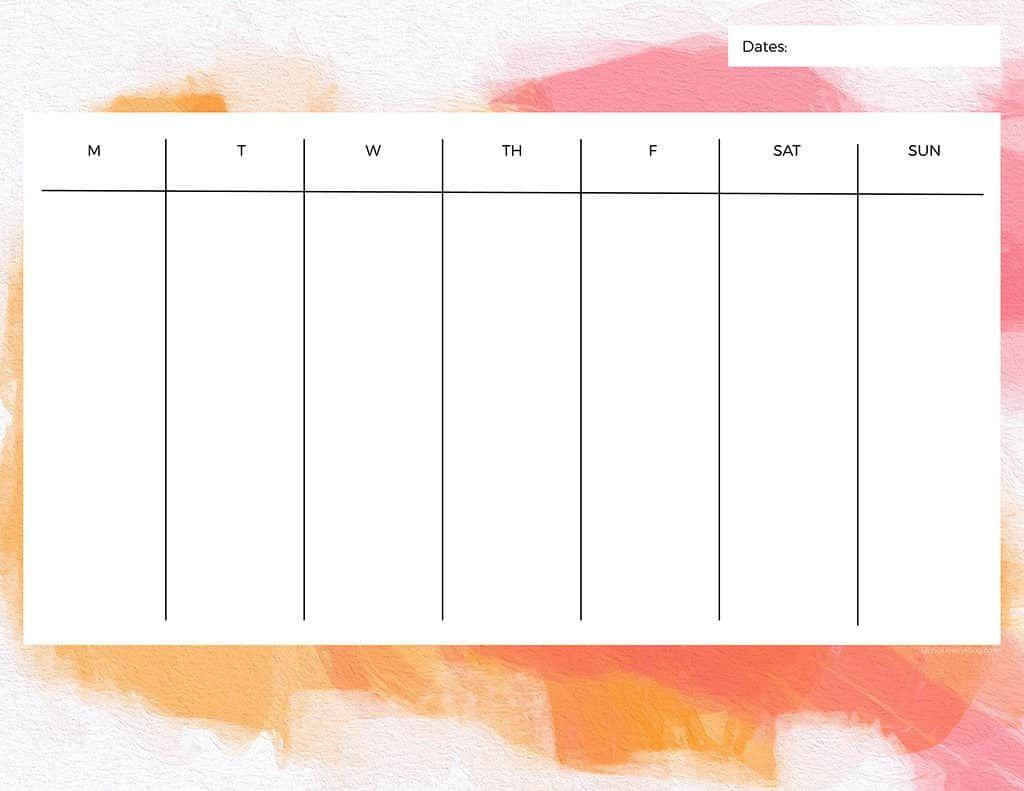 006 Top Printable Weekly Planner Template Cute Example  Free CalendarFull