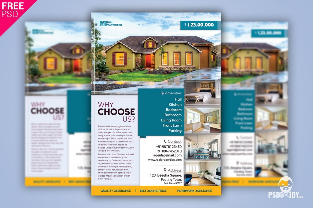 006 Top Real Estate Flyer Template Free Photo  Publisher Commercial Pdf DownloadLarge