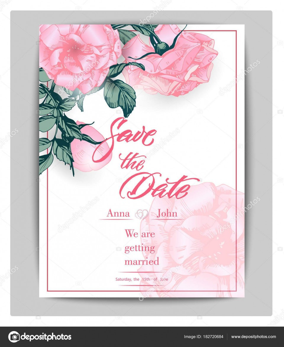 006 Top Save The Date Birthday Card Template High Resolution  Free Printable960