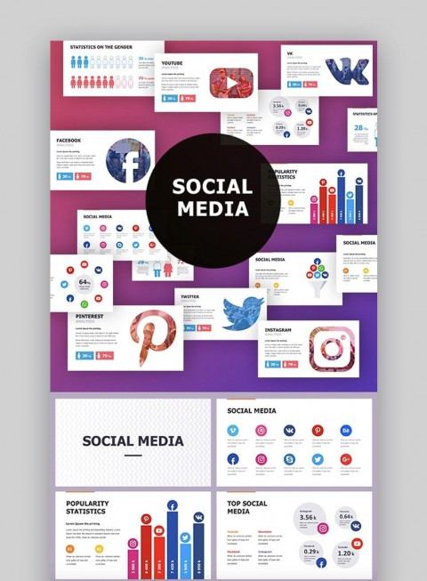 006 Top Social Media Proposal Template Ppt Photo 480