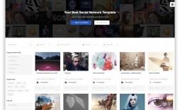 006 Top Social Media Website Template Design  Free Download Html