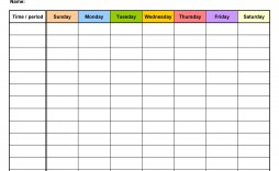 006 Top Weekly Schedule Template Pdf Image  With Time Study Work