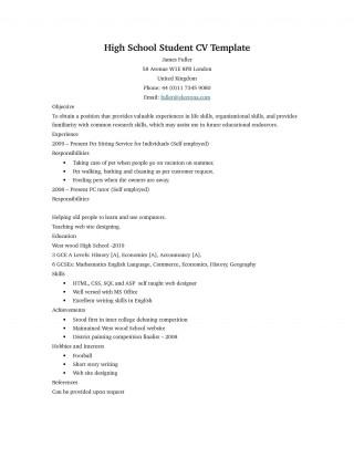 006 Unbelievable Basic Student Resume Template Design  Simple Word High School Australia Google Doc320