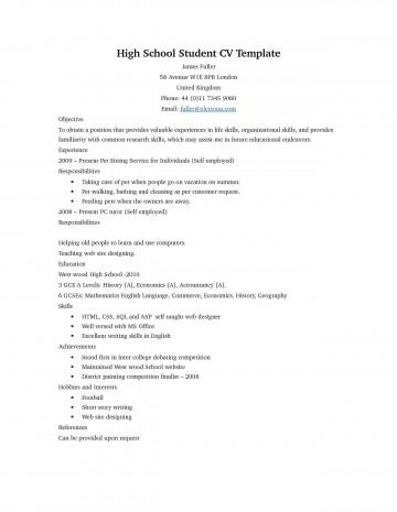 006 Unbelievable Basic Student Resume Template Design  Simple Word High School Australia Google Doc360