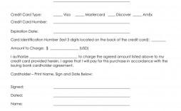006 Unbelievable Credit Card Form Template Excel Inspiration  Authorization Payment