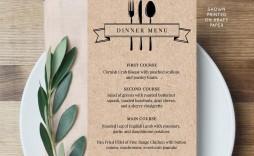 006 Unbelievable Diy Wedding Menu Template High Resolution  Free Card