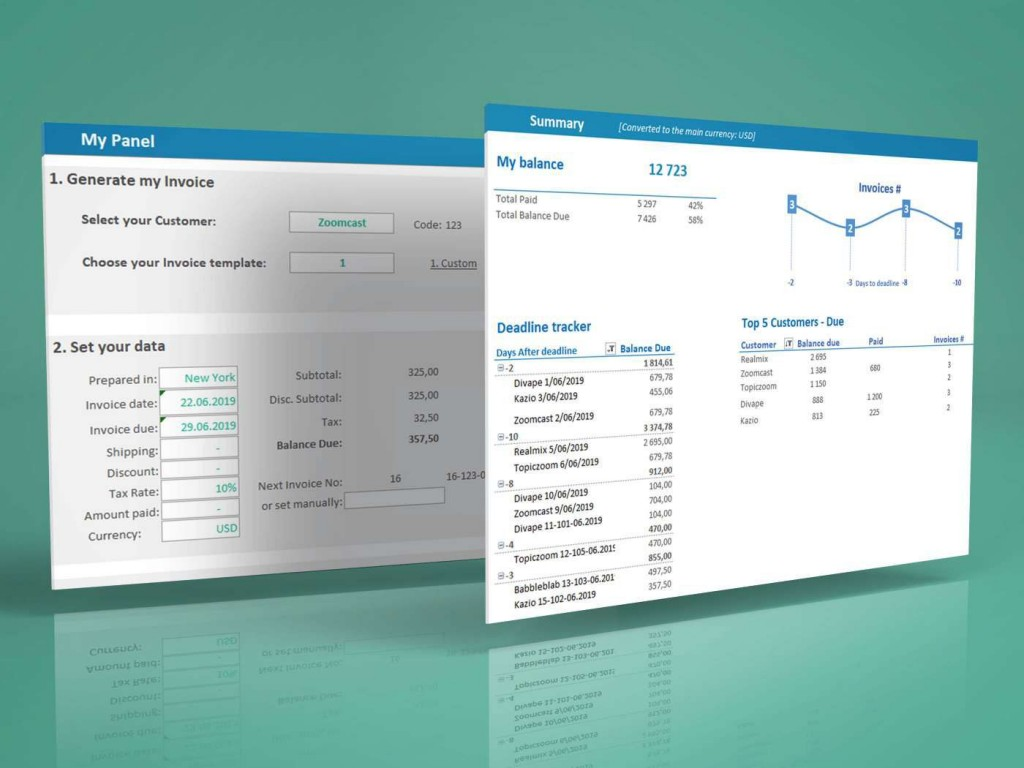 006 Unbelievable Excel Invoice Tracking Template Download Example Large