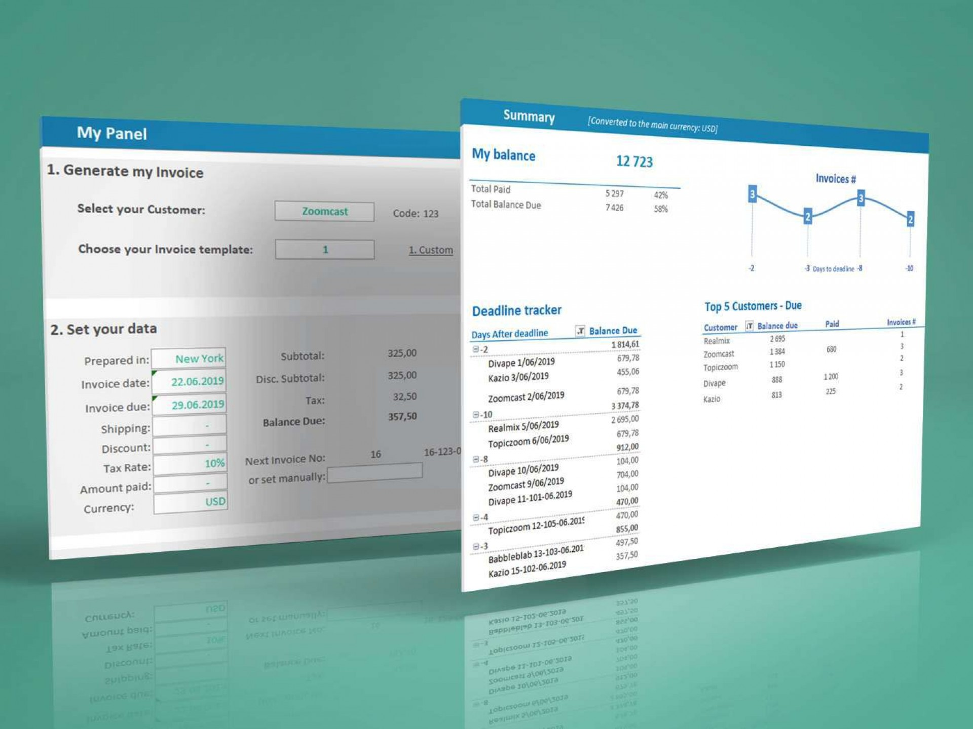 006 Unbelievable Excel Invoice Tracking Template Download Example 1920