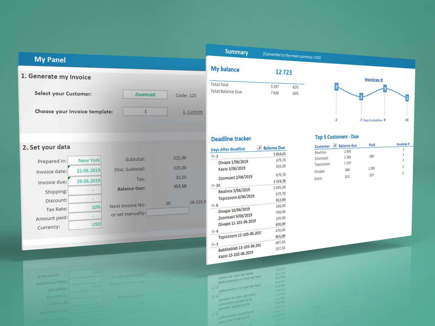 006 Unbelievable Excel Invoice Tracking Template Download Example Full