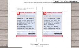 006 Unbelievable Fake Prescription Label Template Sample  Walgreen Bottle