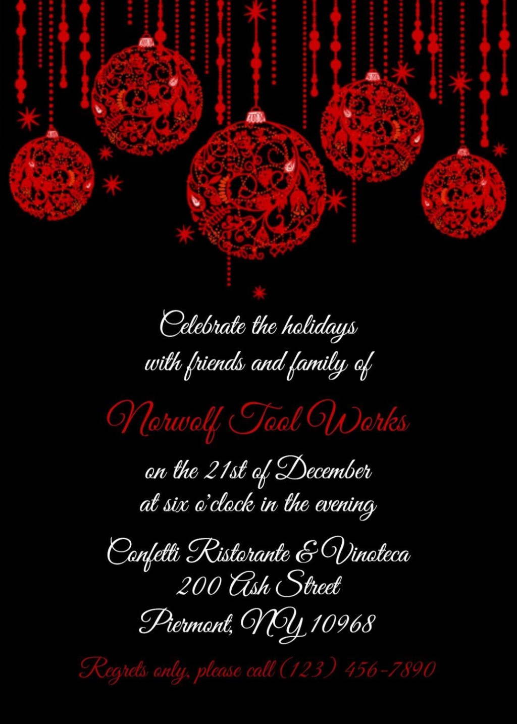 006 Unbelievable Free Busines Holiday Party Invitation Template Image  Templates Printable OfficeLarge