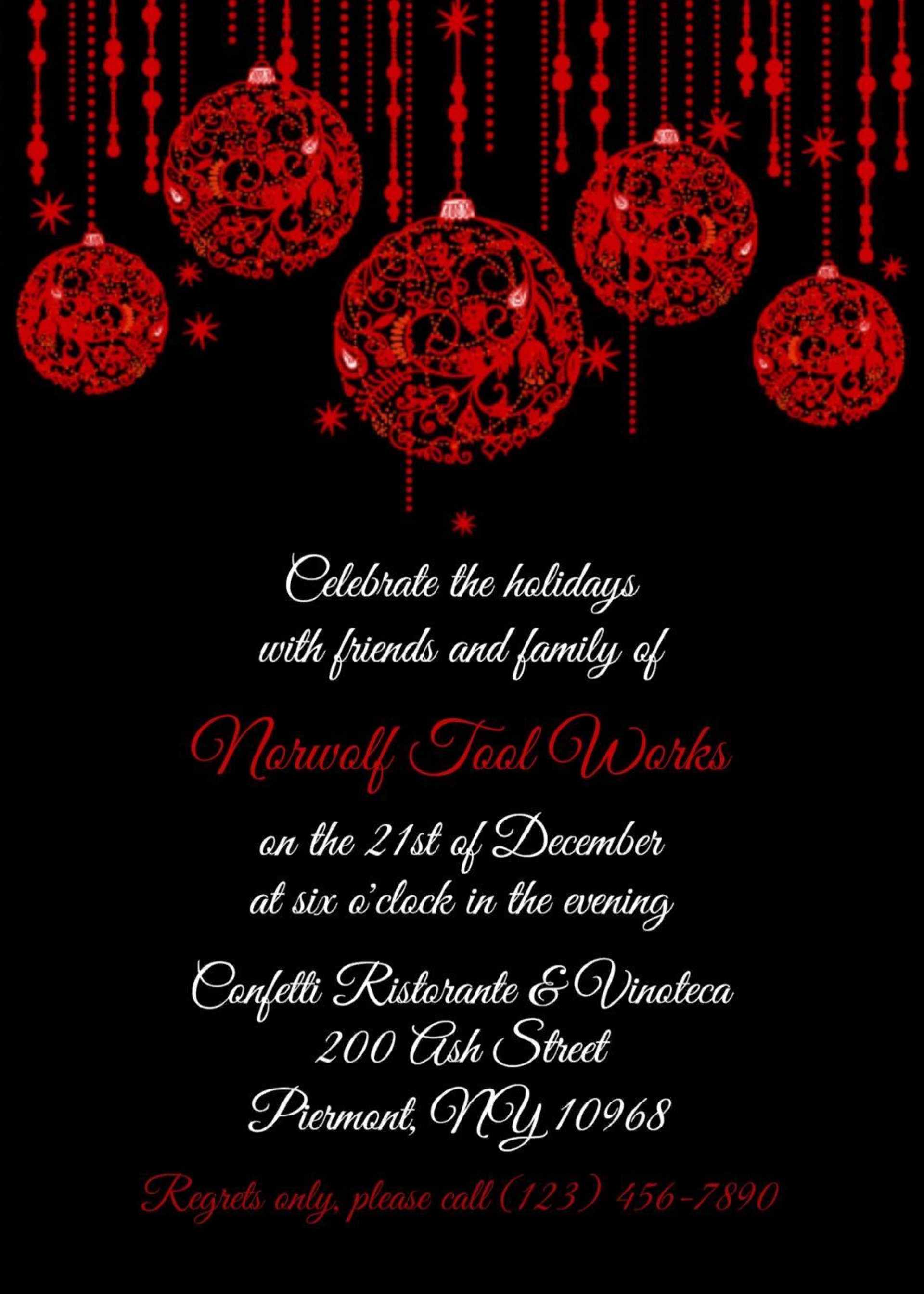006 Unbelievable Free Busines Holiday Party Invitation Template Image  Templates Printable Office1920