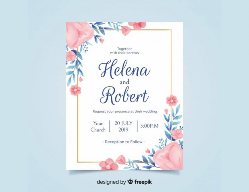 006 Unbelievable Free Download Wedding Invitation Template For Word High Resolution  Microsoft Indian868