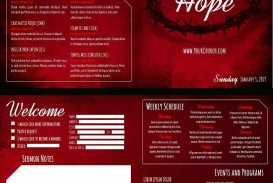 006 Unbelievable Free Editable Church Program Template High Def