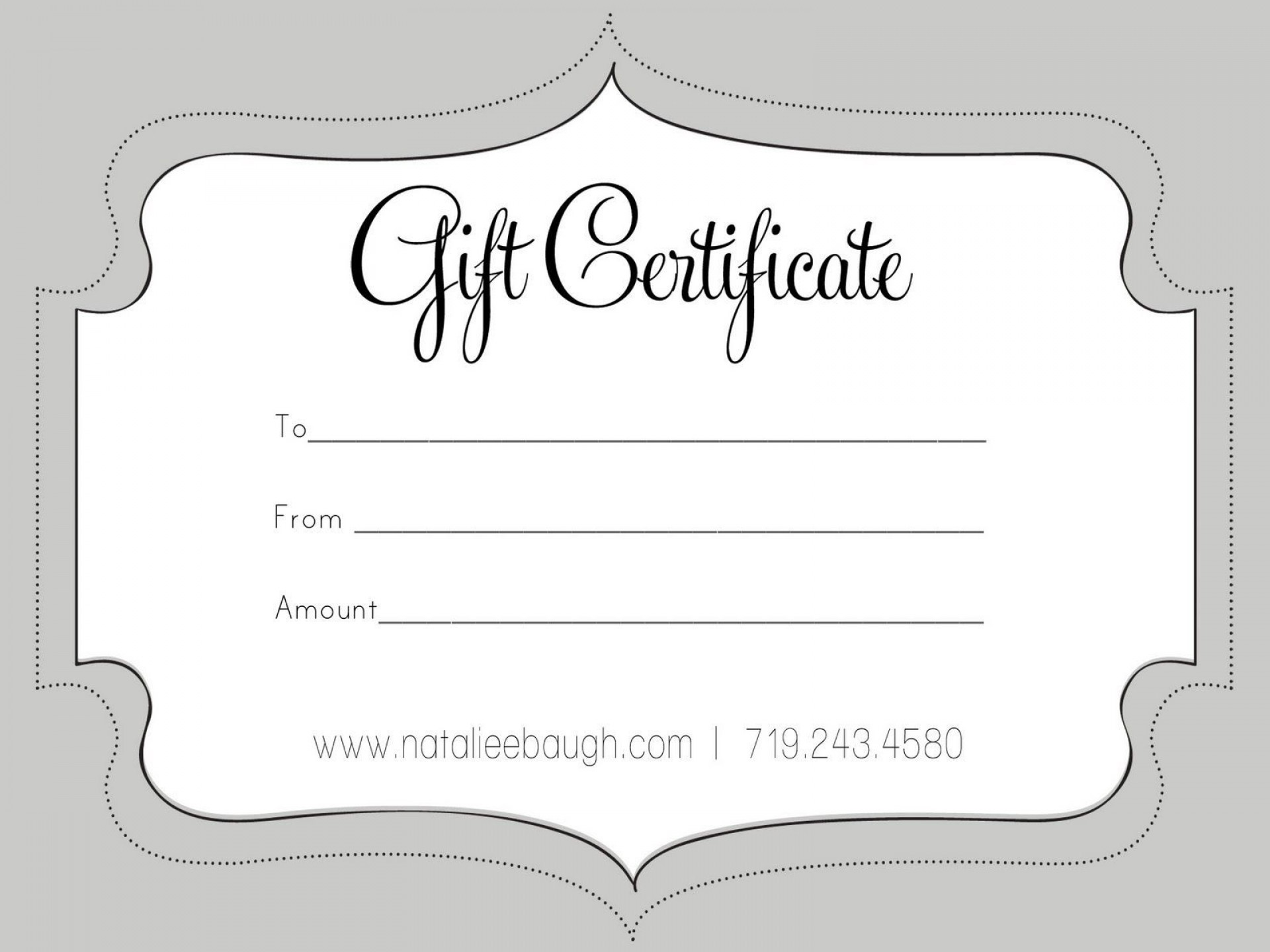 006 Unbelievable Free Printable Template For Gift Certificate Concept  Voucher1920