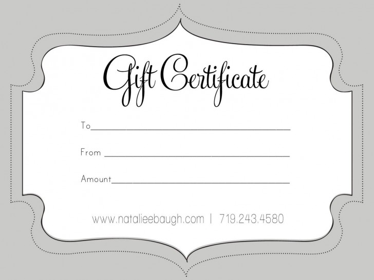 006 Unbelievable Free Printable Template For Gift Certificate Concept  Voucher728