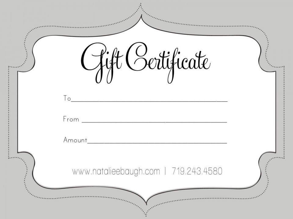 006 Unbelievable Free Printable Template For Gift Certificate Concept  Voucher960