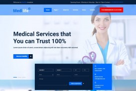 006 Unbelievable Free Website Template Download Html And Cs Jquery For Hospital Concept