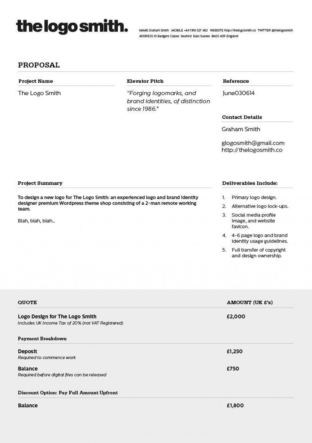 006 Unbelievable Freelance Web Developer Proposal Template Inspiration Large