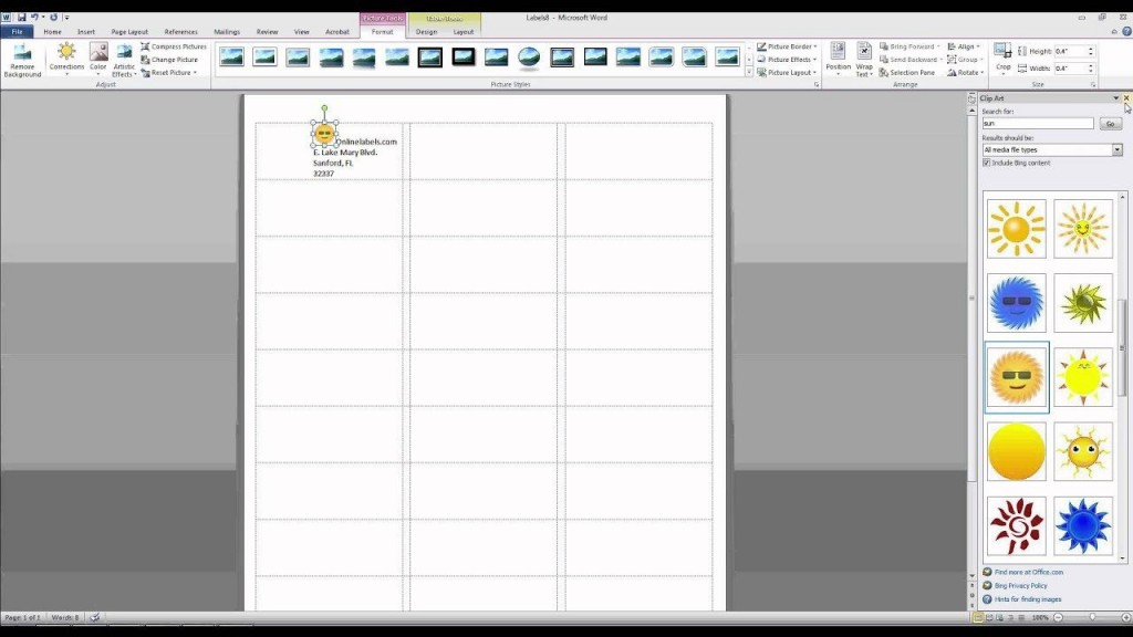 006 Unbelievable Microsoft Word Addres Label Template 16 Per Sheet Concept Large