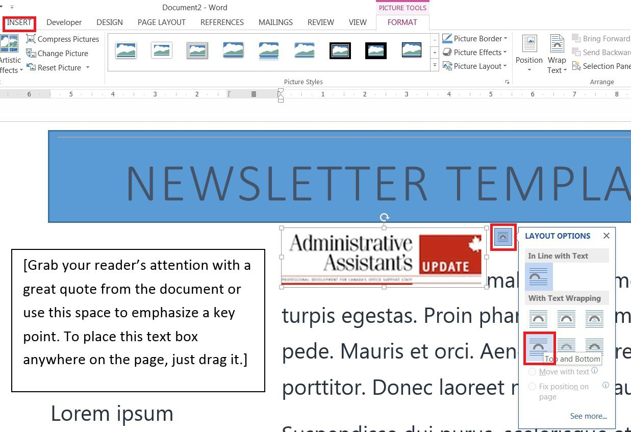 006 Unbelievable Newsletter Template Microsoft Word High Resolution  Download Free BlankFull