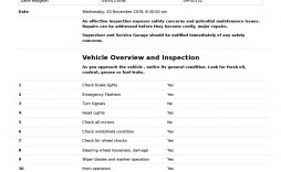 006 Unbelievable Vehicle Safety Inspection Checklist Template Photo  Ontario Daily Form
