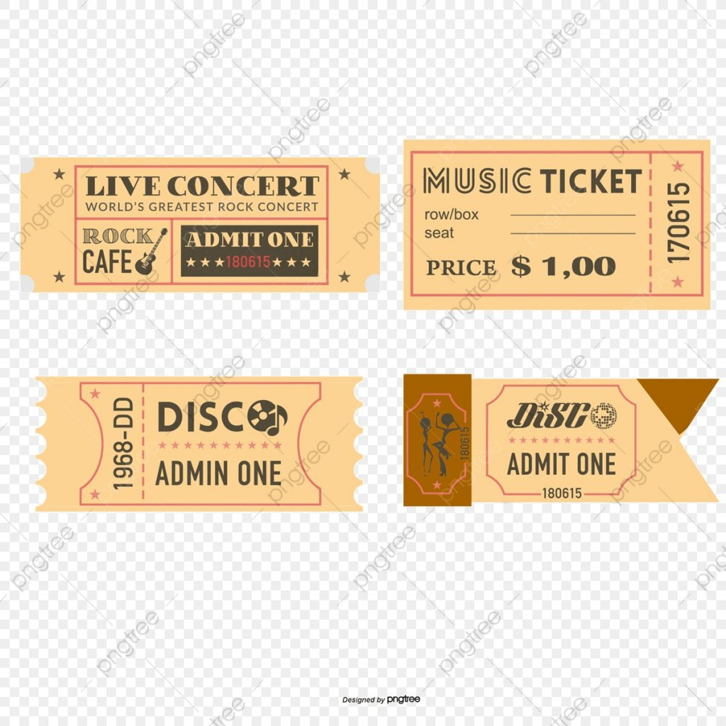 006 Unbelievable Vintage Concert Ticket Template Free Download Picture Large