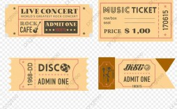 006 Unbelievable Vintage Concert Ticket Template Free Download Picture