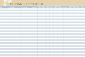 006 Unbelievable Wedding Guest List Excel Spreadsheet Template Picture