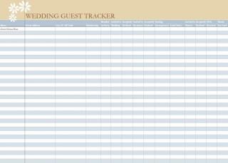 006 Unbelievable Wedding Guest List Excel Spreadsheet Template Picture 320