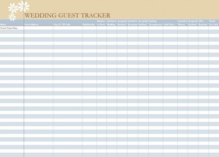 006 Unbelievable Wedding Guest List Excel Spreadsheet Template Picture 728