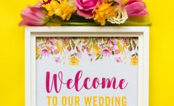 006 Unbelievable Wedding Welcome Sign Printable Template Image  Free