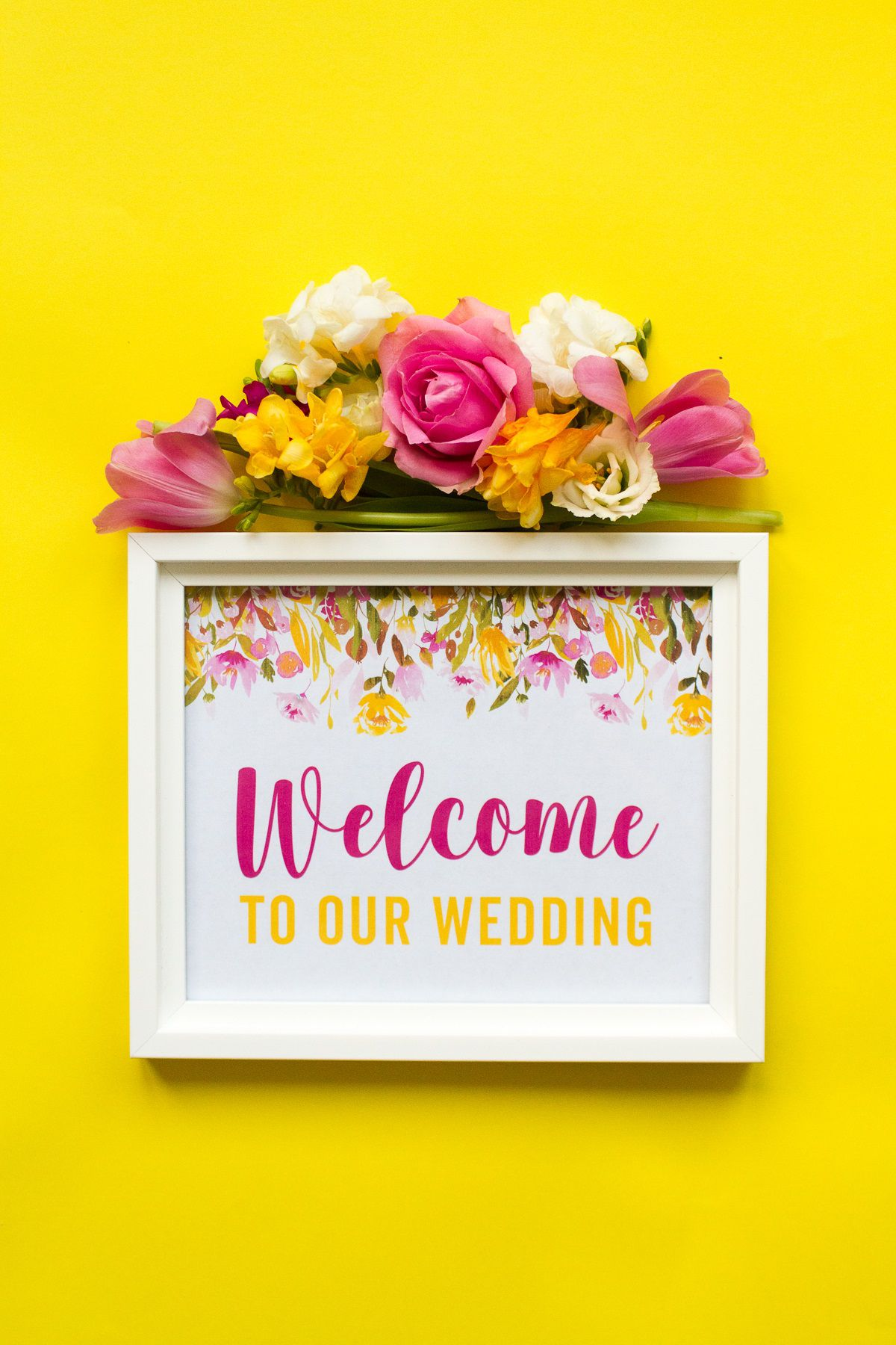 006 Unbelievable Wedding Welcome Sign Printable Template Image  FreeFull