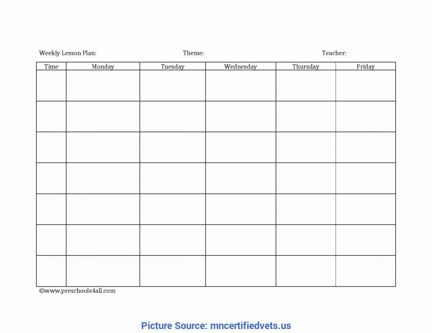 006 Unbelievable Weekly Lesson Plan Template Photo  Editable Preschool Pdf Google Sheet1400