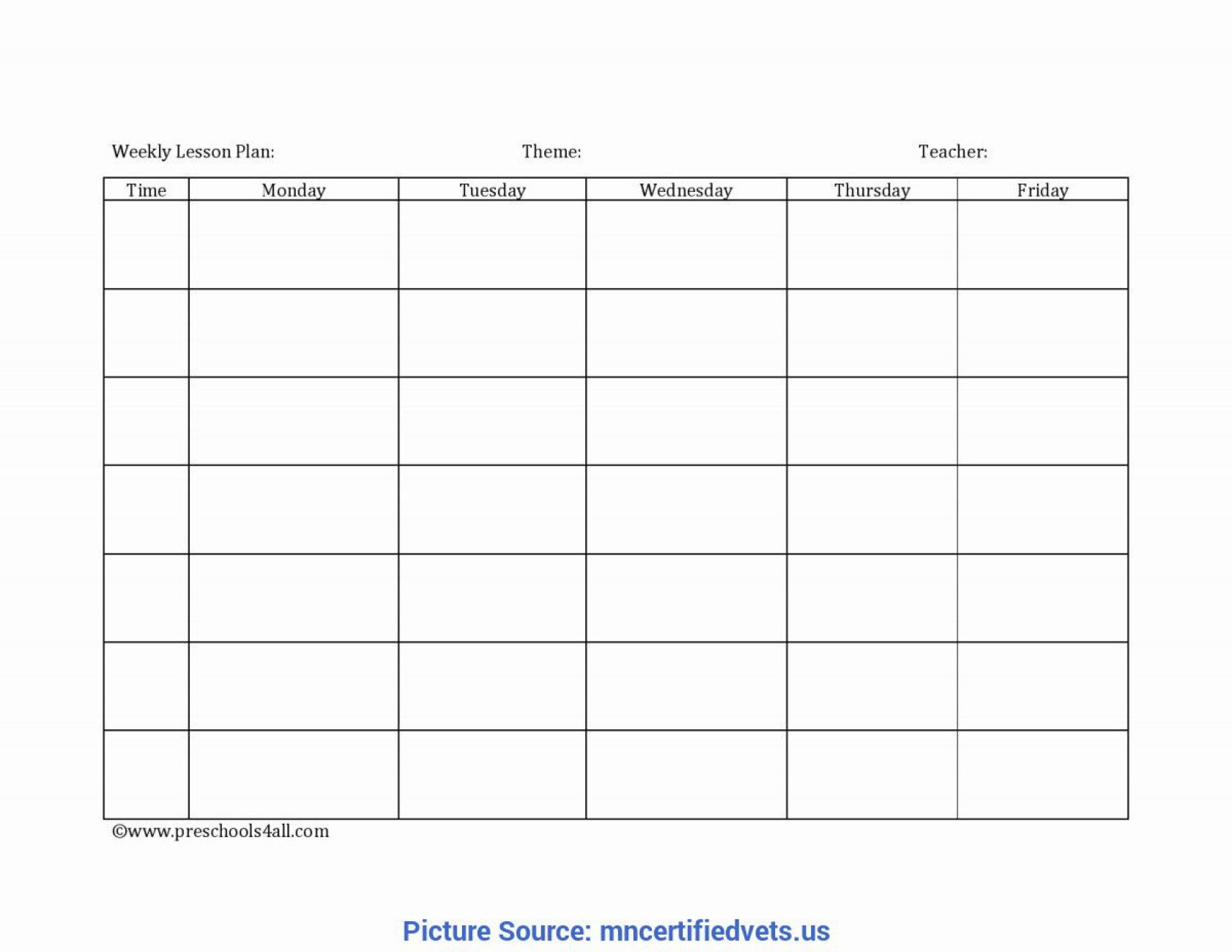 006 Unbelievable Weekly Lesson Plan Template Photo  Preschool Google Doc Editable1920
