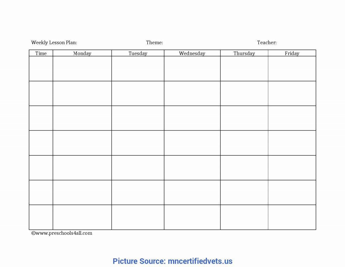 006 Unbelievable Weekly Lesson Plan Template Photo  Preschool Google Doc EditableFull