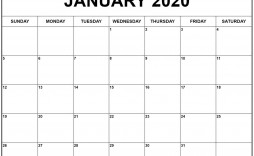 006 Unforgettable 2020 Blank Calendar Template Concept  Printable Monthly Word Downloadable With Holiday
